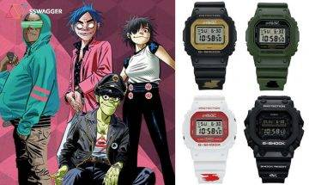 【 G-SHOCK 35周年繼續聯乘】Gorillaz x G-SHOCK 35周年聯乘系列 推出4款虛擬角色別注腕錶