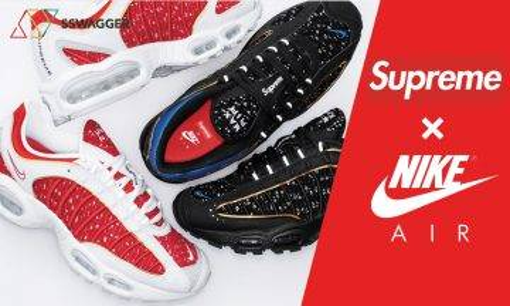 【抽鞋情報】黑藍紅白雙色來襲!Supreme x Nike Air Max Tailwind IV 本週必抽