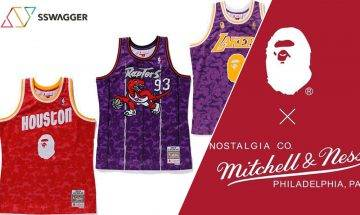 A BATHING APE® x Mitchell & Ness 以NBA日本賽2019之名 再度推出3大球隊別注球衣