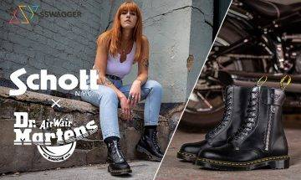 英美聯手打造 Dr. Martens x Schott NYC全新聯乘鞋款融入別注皮革!