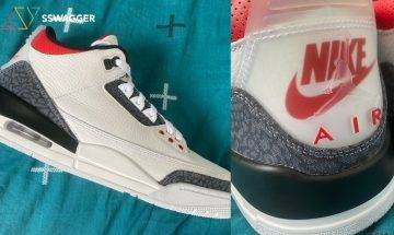 Jumpman與Nike Air融合?Air Jordan 3「Denim Fire Red」實物曝光