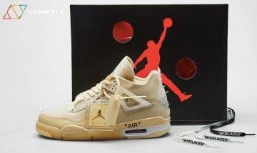 Off-White新鞋有得抽!Off-White x Air Jordan 4「Sail」男女裝尺碼全上架?