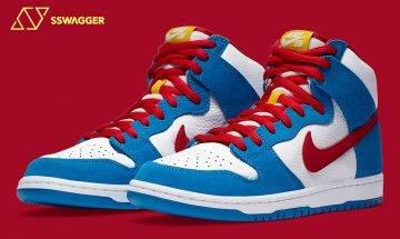 Nike SB Dunk High Doraemon配色官方圖輯釋出!《哆啦A夢》愛好者必入鞋款