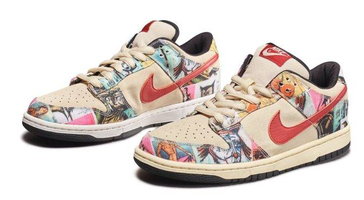 "Nike SB神鞋 Dunk Low Pro ""Paris"" Sample by Bernard Buffet"