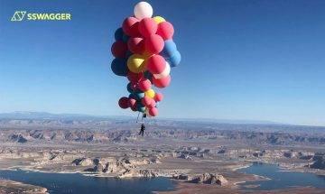 David Blaine持50顆氣球升至24,900尺高空飛越沙漠!為挑戰極限決十年磨一劍