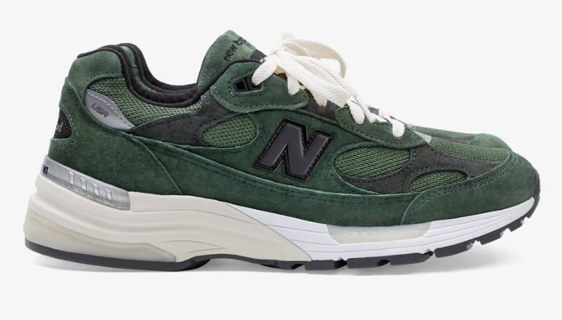New Balance x Jjjjound 992 grey and green colourway