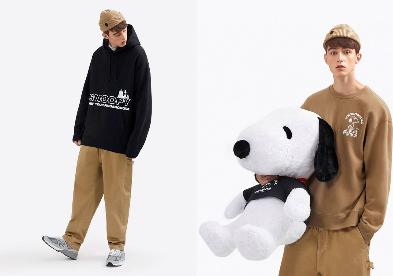 fingercroxx x Peanuts 秋冬聯乘,以 Peanuts 卡通人物 Snoopy 及 Woodstock 作為主軸