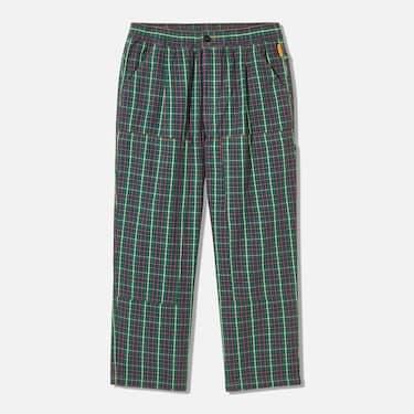 GU & Studio Seven「Honest College」Green and Navy flannel pants