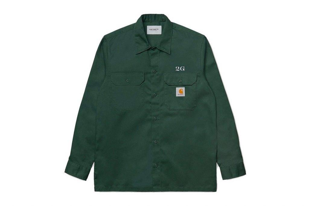 Carhartt WIP & 2G button-up work shirts Green Colourway