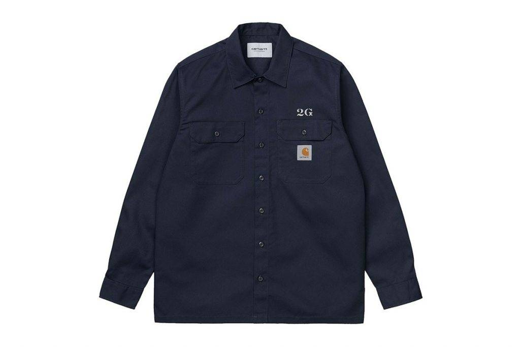 Carhartt WIP & 2G button-up work shirts Navy Colourway