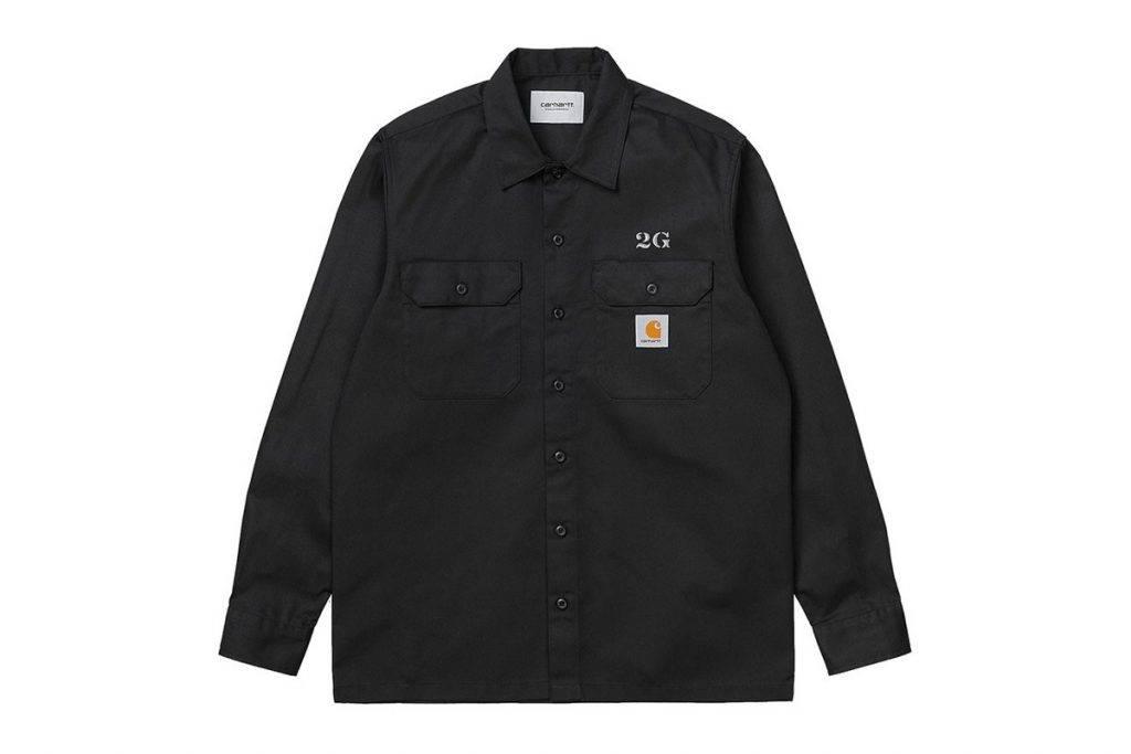 Carhartt WIP x 2G button-up work shirts Black Colourway