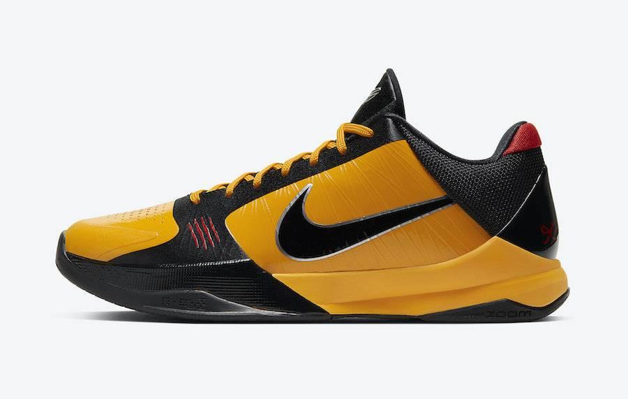 Kobe 5 Protro Bruce Lee OG Yellow colourway
