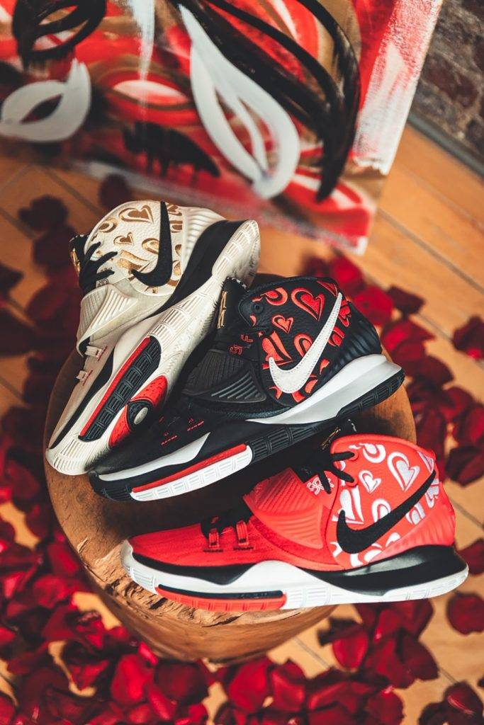 Kyrie Irving x Sneaker Room Kyrie 6 Mom Collection Black Red Cream Colourway