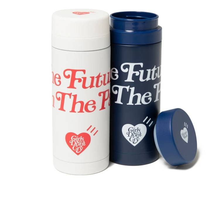HUMAN MADE Girls Don't Cry 2020 AW Collection thermo mug navy white