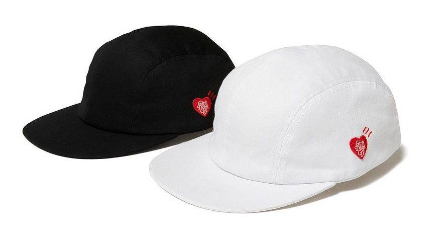 HUMAN MADE Girls Don't Cry 2020 AW Collection 5 panel cap black white