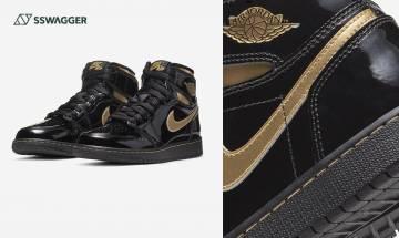 Air Jordan 1 Retro High OG Metallic Gold黑金漆皮配置再現!