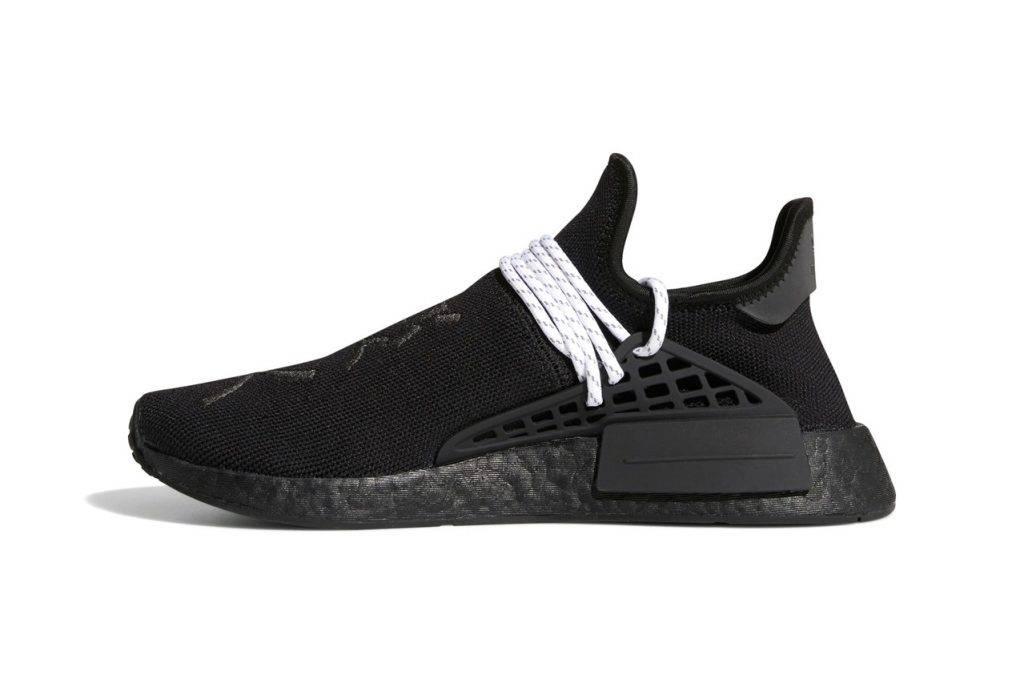 Pharrell Williams & adidas NMD Hu Triple Black Colourway