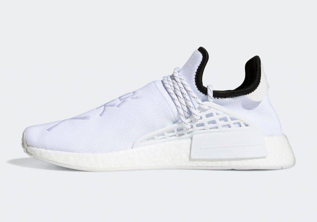 adidas Originals x Pharrell Williams Hu NMD Core White colourway