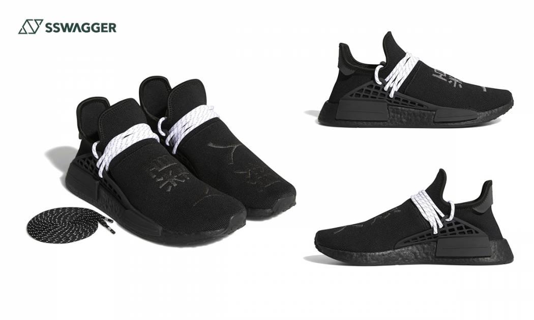 Pharrell Williams x adidas NMD Hu Black