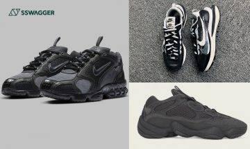 暗黑系波鞋必入精選!sacai x Nike Vaporwaffle、Yeezy 500 Utility Black 等6雙近期不容錯過之鞋款