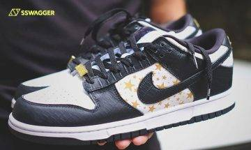 Supreme x Nike SB Dunk Low Stars Croc Black實物先行近賞
