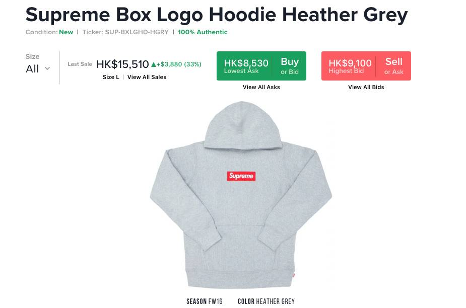 Supreme Box Logo Hoodie Heather Grey