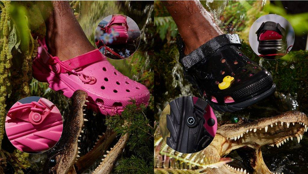 Post Malone & Crocs Duet Max Clog 5th collection black pink