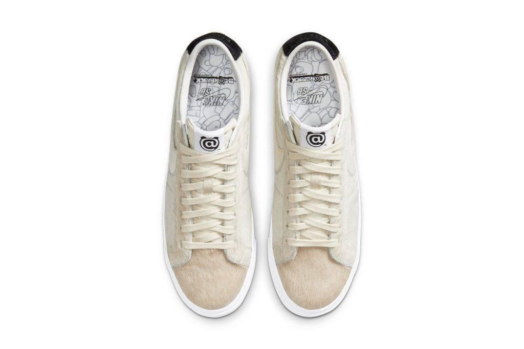 MEDICOM TOY & Nike SB Blazer Low Beige colourway