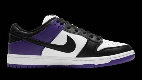 "Nike SB Dunk Low ""Court Purple"" colourway"