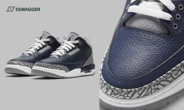 Air Jordan 3 Georgetown官方高清圖、預售確定!必入fragment專用軍藍色