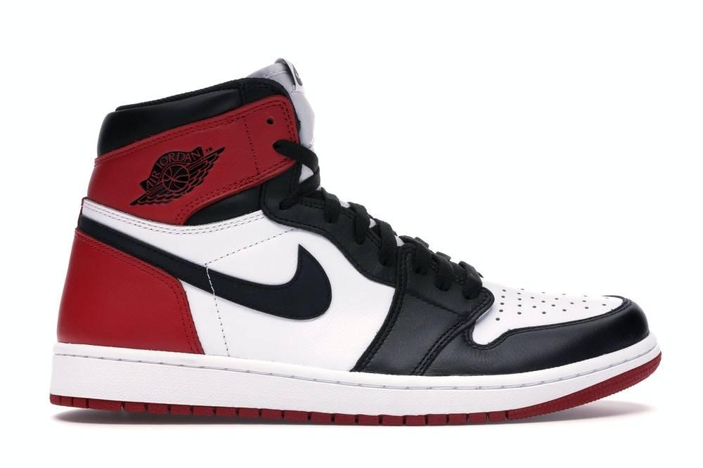 Air Jordan 1 Retro High OG black white varsity red colourway