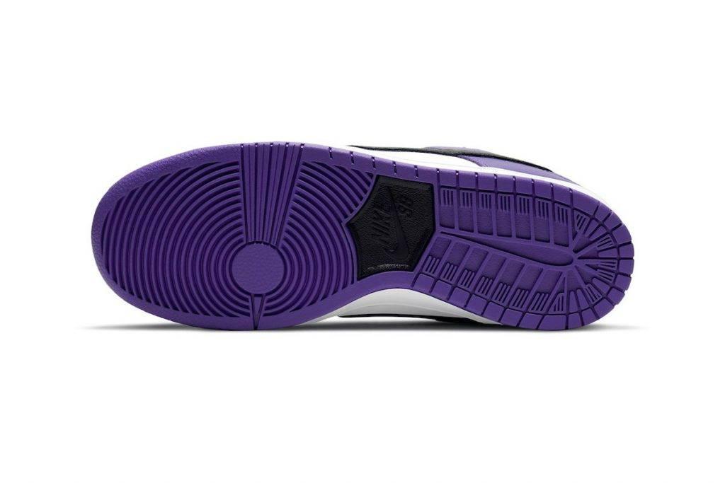 "Nike SB Dunk Low ""Court Purple"" raffle purple black colourway"