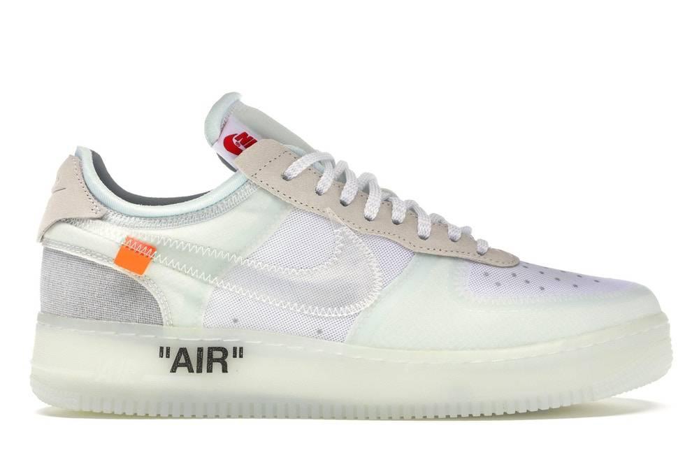 The Ten Off-White x Nike Air Force 1 white colourway