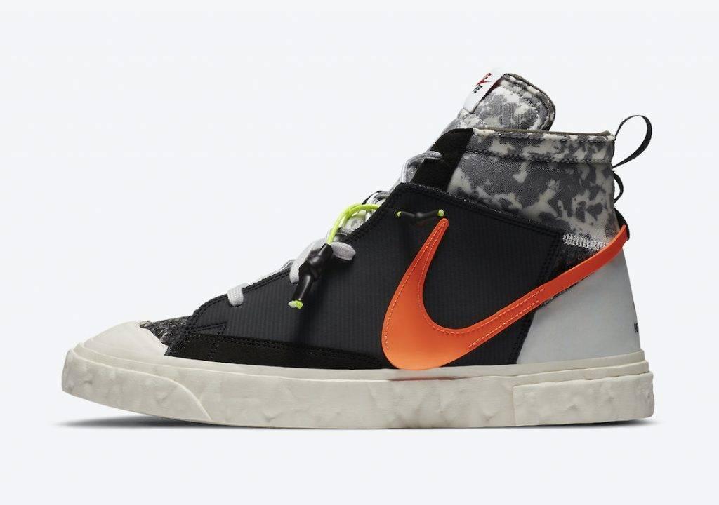 READYMADE x Nike Blazer Mid black and white colourway