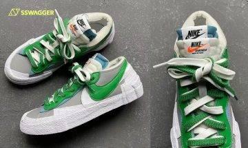 sacai x Nike Blazer Low Medium Grey多角度近賞圖曝光!多層次鞋面設計添玩味