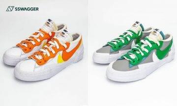 sacai x Nike Blazer Low 雙色近賞圖曝光!春夏必入之吸睛鞋款