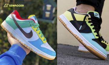 Nike Dunk Low Free 99諜照流出!黑白鴛鴦彩色鞋王