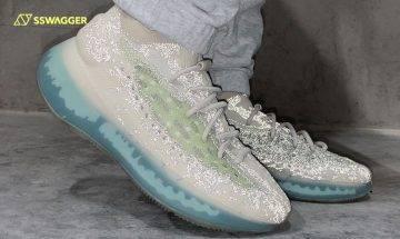 adidas YEEZY BOOST 380 Alien Blue Reflective上腳預覽!一抹綠色向《異形》致敬?