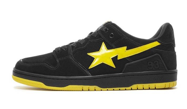 BAPE SK8 STA black and yellow colourway