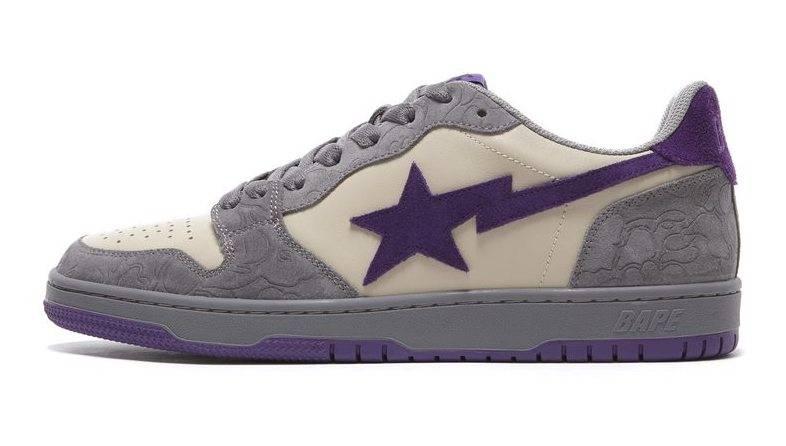 BAPE COURT STA grey purple beige colourway