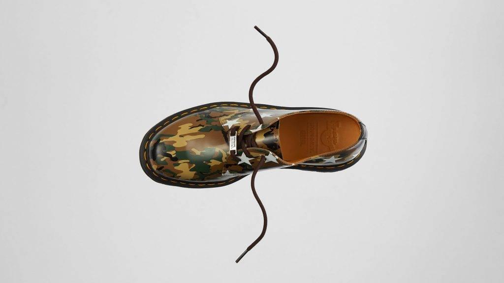 Dr. Martens x SOPHNET. x END. 1461 leather shoes camo colourway