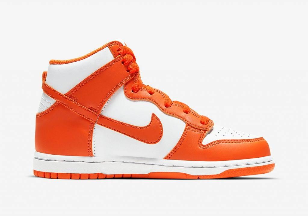 Nike Dunk HighSyracuse white and orange colourway