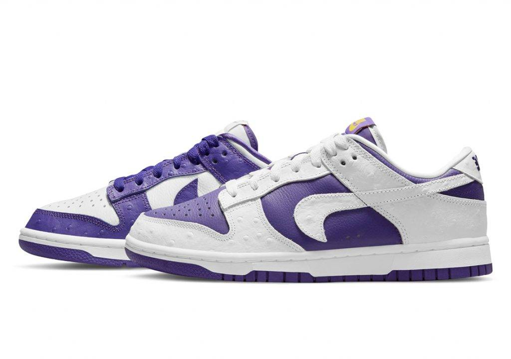 Nike Dunk Low Flip The Old School purple and white colourway