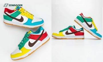 Nike Dunk Low Free 99 白色版多角度實物圖釋出!為大熱鞋款注入吸睛鴛鴦色