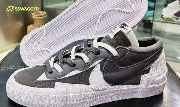 sacai x Nike Blazer Low灰白色 無預警首曝光!百搭色系定必成熱搶對象