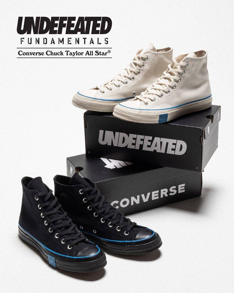 UNDEFEATED x Converse「Fundamentals」collection Chuck Taylor All Star 70 hi black and parchment colourway