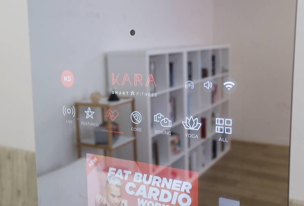 KARA Smart Fitness Mirror User Interface and camera Product shot