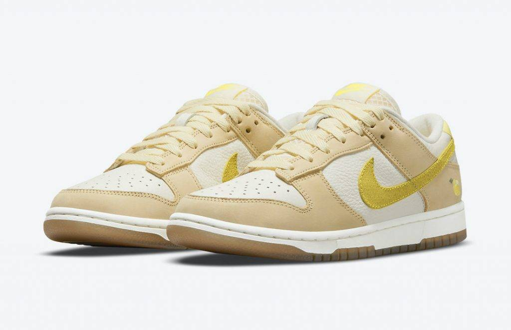 Nike Dunk Low Lemon Drop yellow sail Zitron colourway to be released on April 24th