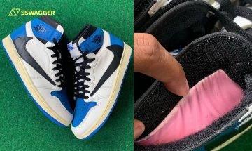Travis Scott x fragment design x Air Jordan 1獨特細節曝光!球鞋上竟然出現了口袋?