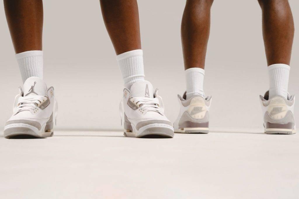 Air Jordan 3 x A Ma Maniére white beige grey colourway